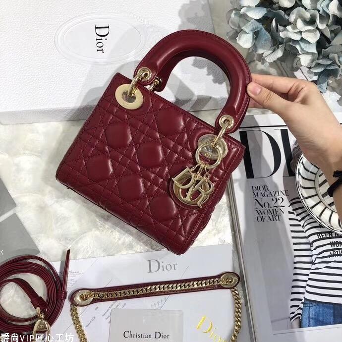 【迪奥】Dior minisize特别适合各路小仙女 金扣 17cm.