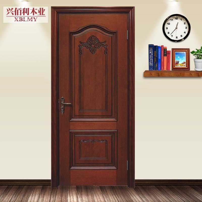 原木门卡斯楠木烤漆门欧式雕花复合套装门