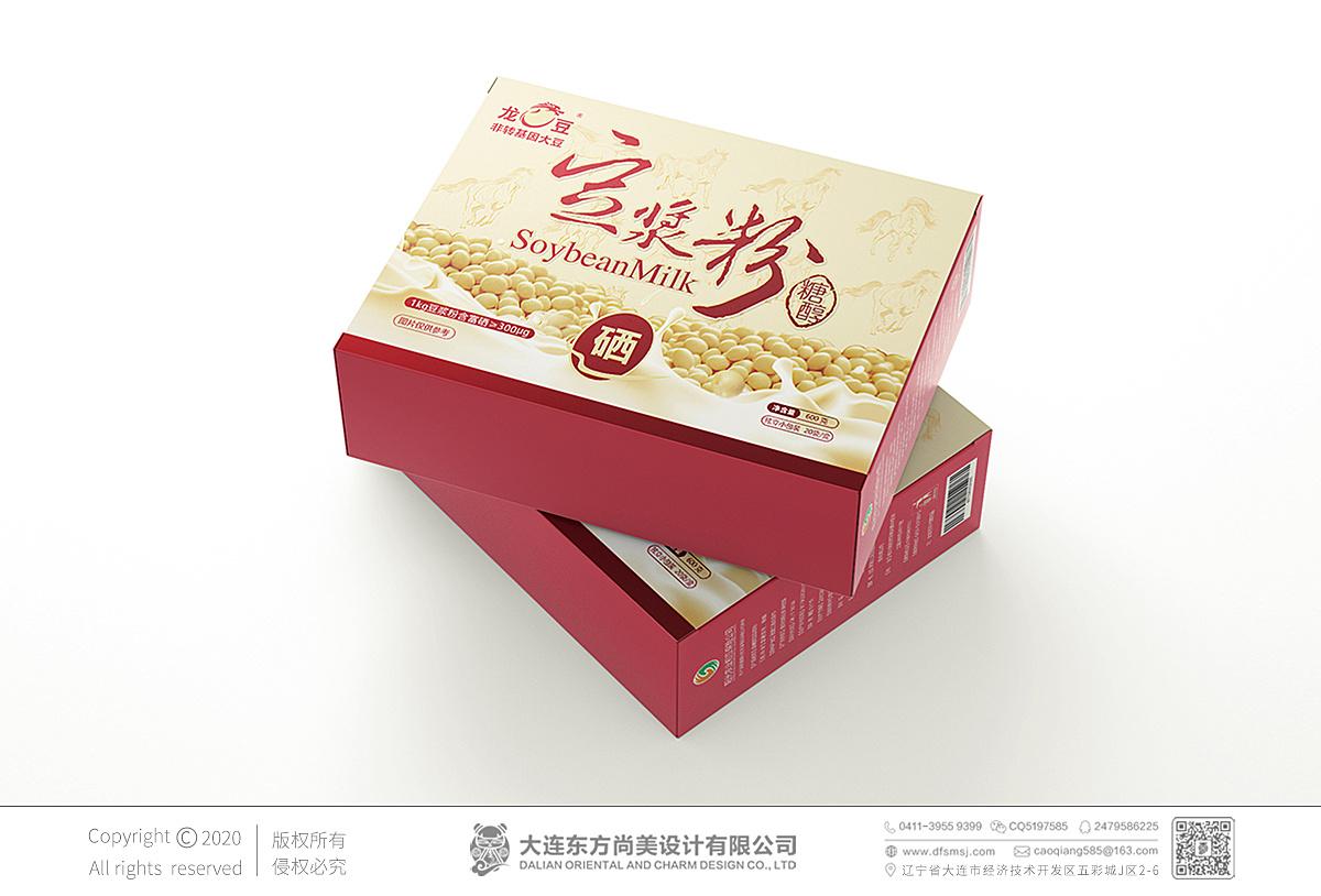 | 黃豆豆漿粉_包裝設計_方案一_包裝盒設計 |