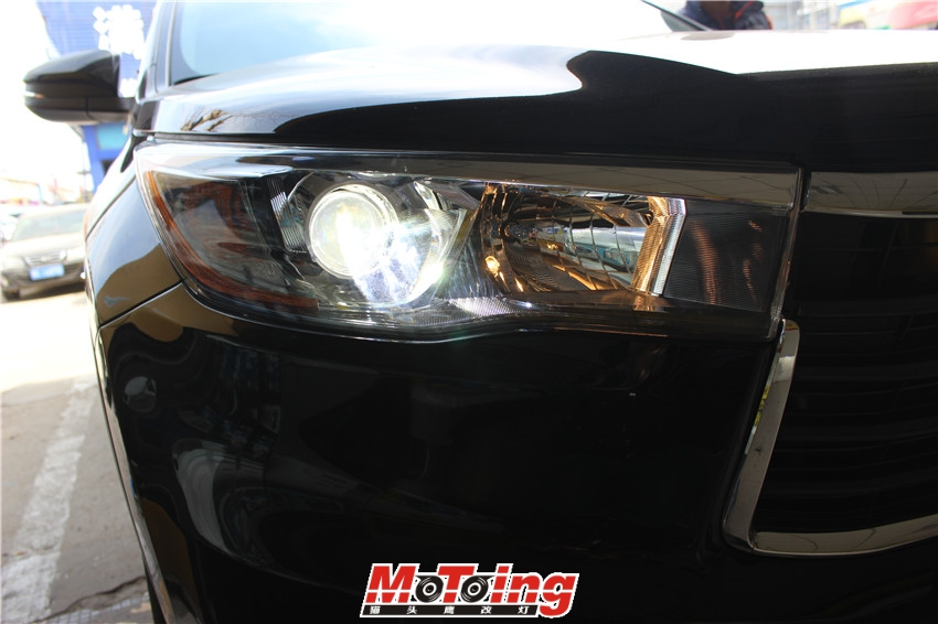 丰田15款汉兰达车灯改装案例