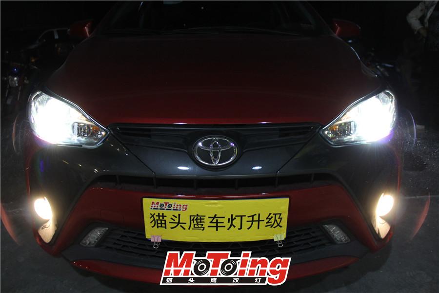 丰田16款致炫天窗版车灯改装案例
