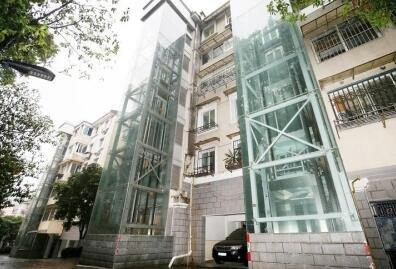 原建筑结构做电梯井加建案例