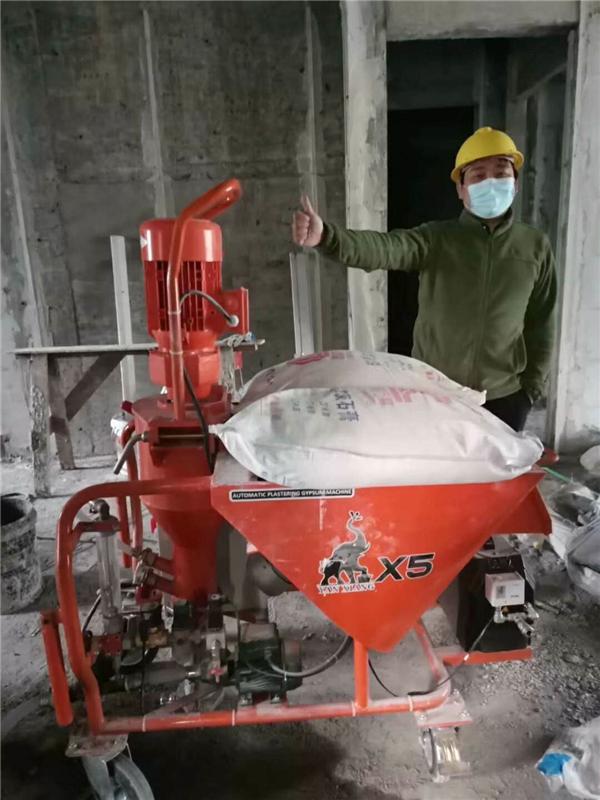 河南X5全自動石膏機施工現場