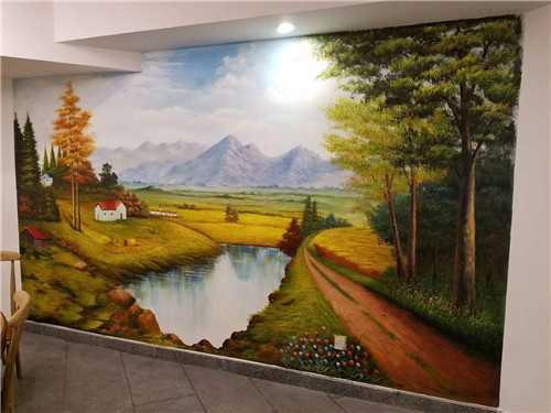 酒店餐厅壁画图片