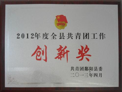 2012年度共青团工作创新奖