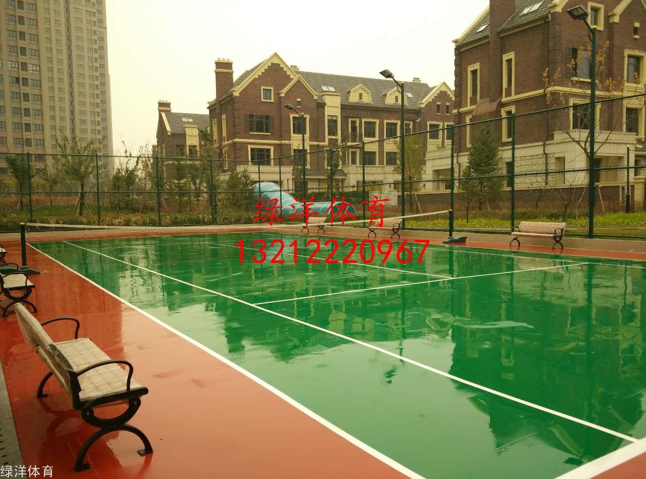 天津市中北镇云锦世家硅pu网球场龙8国际
