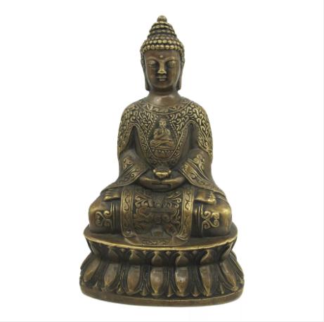清代乾隆款铜佛像