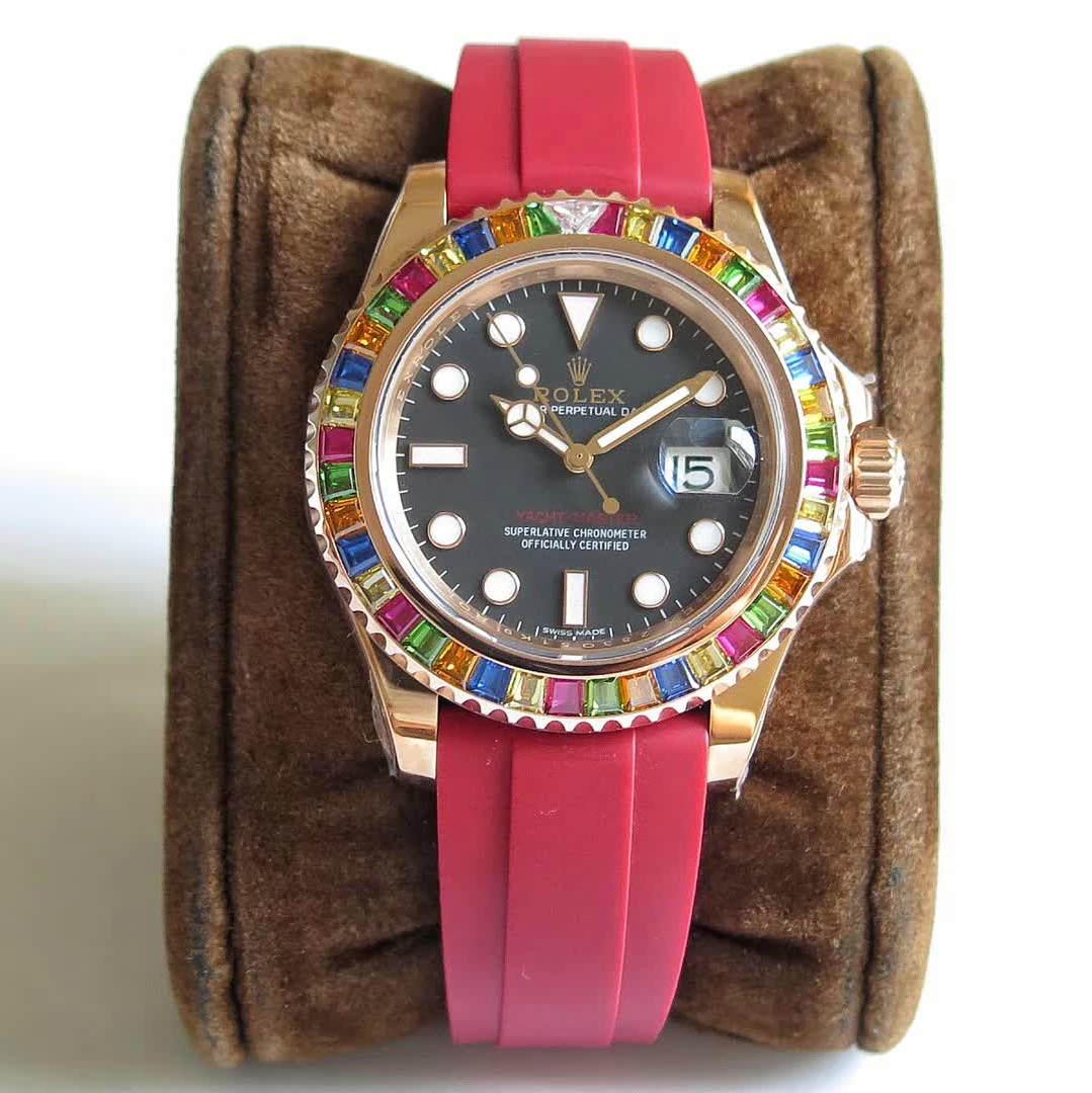 【NOOB】劳力士904L钢 116695SATS 游艇糖豆 玫瑰金彩钻圈手表
