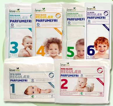 LEVEVIS 宝宝尿不湿 7种尺寸 陪伴孩子的成长