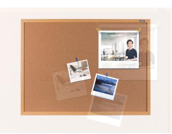 得力(软木板/留言板/照片墙(木边框、针插留言)