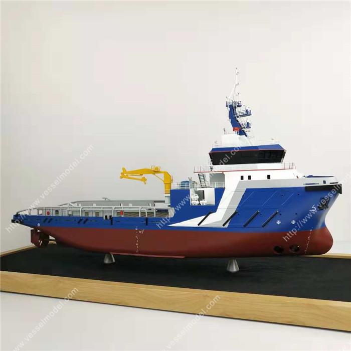 65cm海工船模型_散貨船模型_海藝坊船舶模型制作