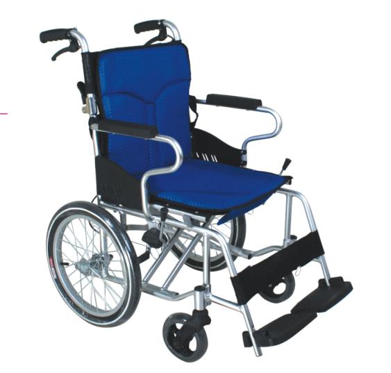 折背式铝合金软座轮椅