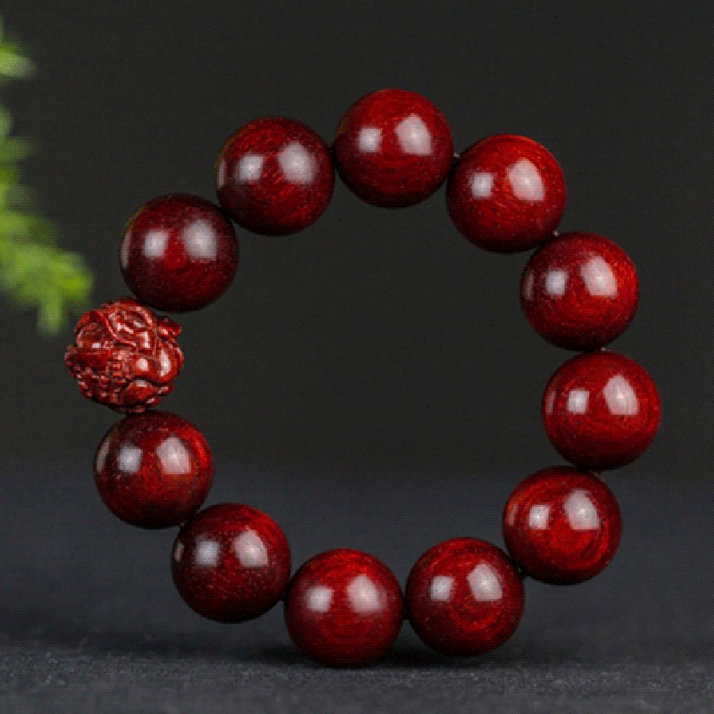 幸物紫檀貔貅印度小叶紫檀手串佛珠2.0手链男红木手串1.8