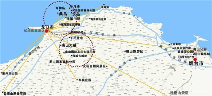 龙口东海卫星地图